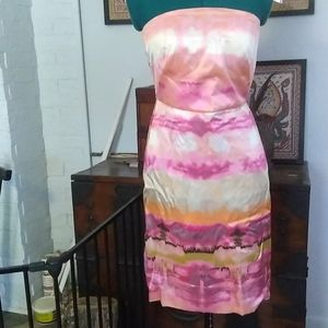 NWT BR Strapless Silk Dress